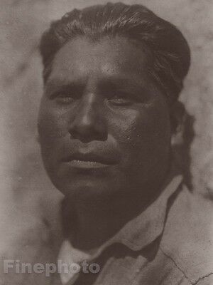 c.1900/72 Photo Gravure NATIVE AMERICAN INDIAN Diequeno Man EDWARD CURTIS 11x14