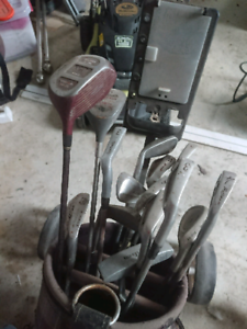 golf set and buggy