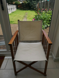 Folding Wooden Garden Director chair