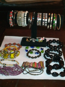 Assorted bracelets and a couple rings