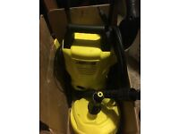 Karcher K2 Pressure washer, including all attachments, cleaning product and box.