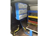 Vw transporter t5 metal racking and bulkhead
