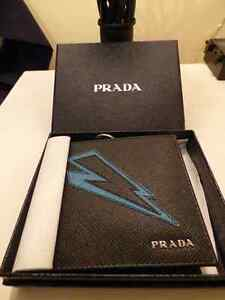New Genuine men's Prada Wallet Bolt style, Bought at $500.00