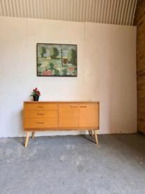 Mid Century Vintage Sideboard Storage