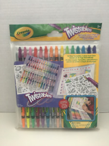 Crayola 30 Mini Twistables, Create-Your-Own Stickers & 40-Page-S