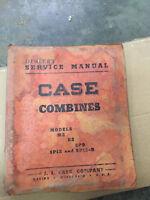 J.I.Case M2 K2 SP9 SP12 Combine Service Manual