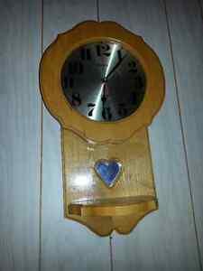 """Lee Valley"" wood wall clock"