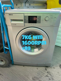 Beko 7kg silver washing machine free delivery in Nottingham