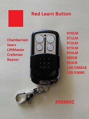 LiftMaster Craftsman Garage Door Opener Mini Remote Part For Red Learn
