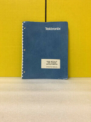 Tektronix 1502b Metallic Time Domain Reflectometer Operator Manual