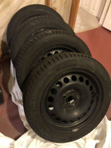 4 sets of winter tires with rims. Michellin X-Ice 205/55 R16.