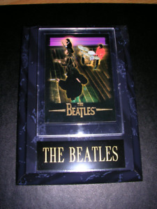 """Beatles. 5""""x 7"""" black marble style plaque with Gift Box"""