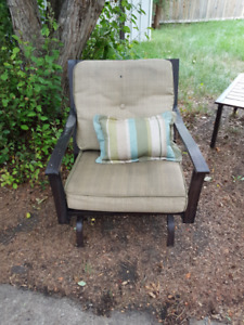 Four Piece Metal Patio Set - Chair, Love Seat, Coffee Table
