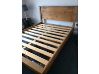 Kingsize Bed Oak Wooden King Bed plus storage
