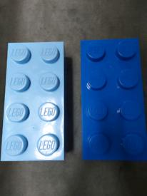 Lego brick storage boxes (2)
