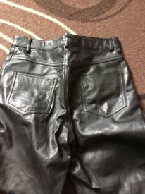 Women's real leather jeans size 12