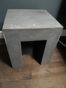 Cement Look Side Table, like new