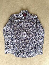 Hawes & Curtis blue floral shirt