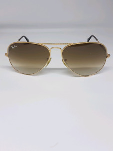 $75 RAYBAN RB 3025 GOLD FRAME BROWN AVIATORS WON'T LAST