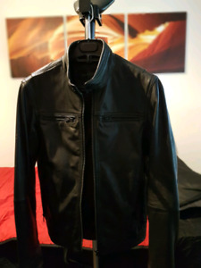 Danier mens Motto leather Jacket size 34 or 2xs (xxs) BRAND NEW