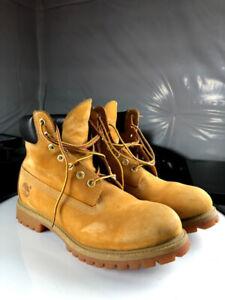 """Timberland 6"""" Premium Boots Wheat Size 10"""