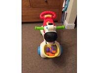 VTech baby 3 in 1 zebra. 3 ways to play. Push walker, ride on or scooter