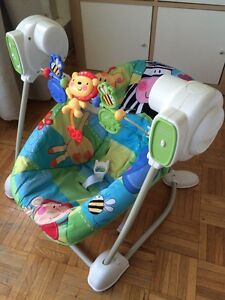 Chaise vibrante et balançoire Fisher Price