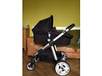 iCandy Apple 2 Pear Carry Cot + Push Chair + Cookie pack + rain covers + car seat adapters