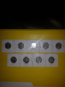 Canadian coins 2013 quarters (REDUCED)