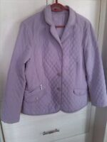 Talbots quilted jacket size large 10-12 - lilac purple-like new