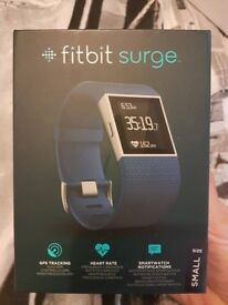 Fitbit Surge Fitness Super Watch ( BLUE) NEW .