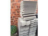 100 Brand New Marley Double Roman ridge roof tiles grey/green