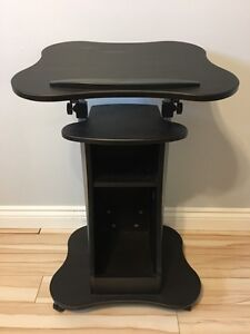 Laptop cart with storage adjustable table top $50