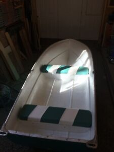 12 ft fiberglass boat and trailer