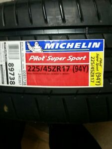 Michelin Pilot Super Sport Tires 225/45/17