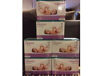 6 boxes of Nappies size 4/5 (238 nappies in total).