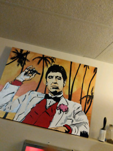 Scarface painting one of a kind