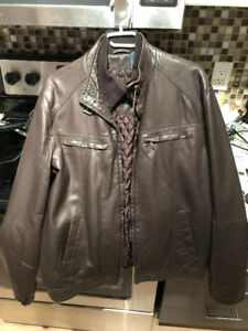 Like New - Perry Ellis Faux Leather Jacket Men's Large