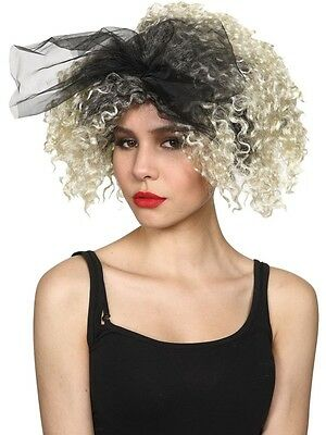 Ladies 80's Material Girl Wig Madonna Wild Child Celeb Womens Fancy Dress Party ()