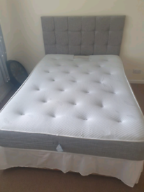 45. Double bed with pocket sprung mattress