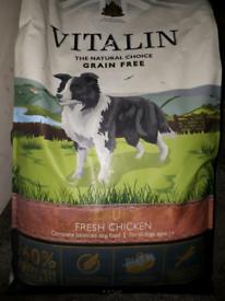 Vitalin 60% Chicken premium adult dog food, 12kg