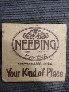 Neebing Road House Matchbook (Thunder Bay, ON) Windsor Region Ontario image 1