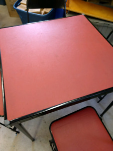 Vintage 1972 Card Table Set with 4 Chairs