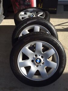 BMW 3 series rims and tires.