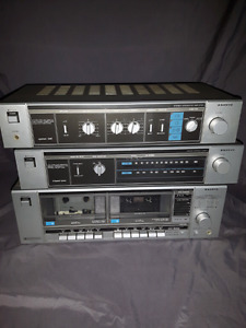 Sanyo Ja 240 integrated amp,  matching tuner and cassette deck.