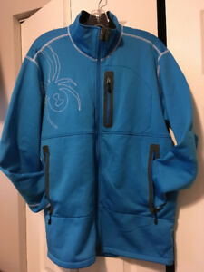 Men's Large Spyder Stryke Mid-Layer Full-Zip Jacket