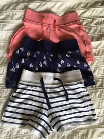 Girls 3 pack shorts - Age 4