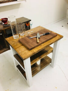 """36"""" Natural Wood Country Kitchen Island SALE"""