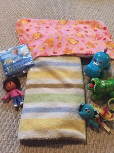 Baby stuff.  Blankets, toys, waterwings
