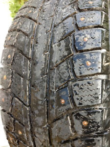Pair of Studded Winter Tires